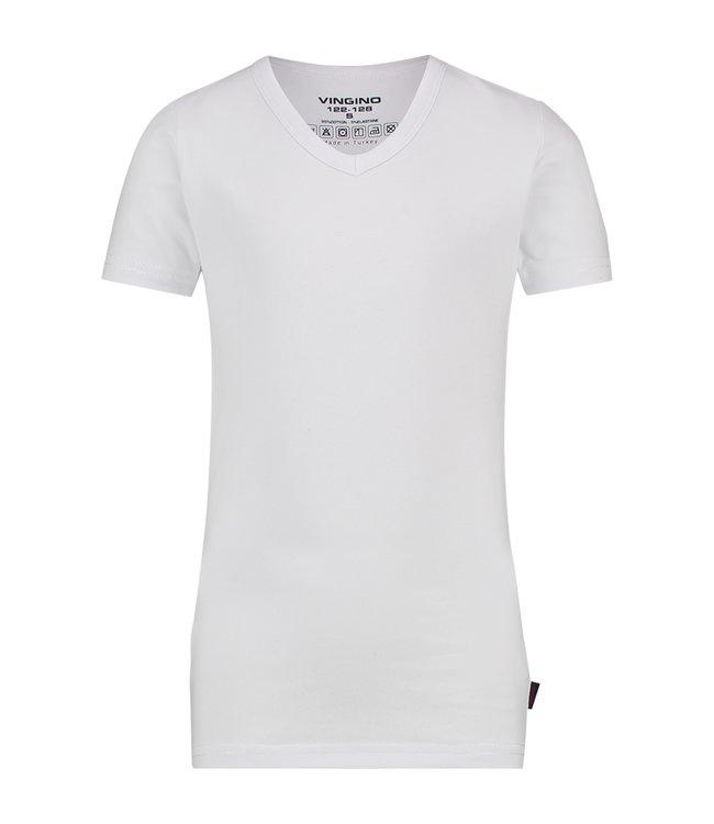 Vingino T-shirt V-neck white