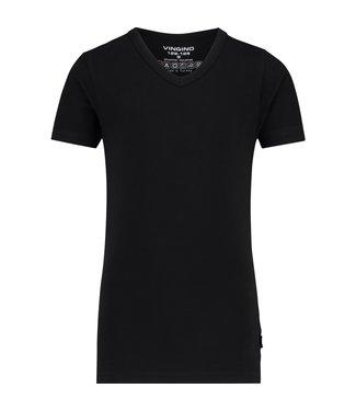 Vingino T-shirt V-Ausschnitt Schwarz