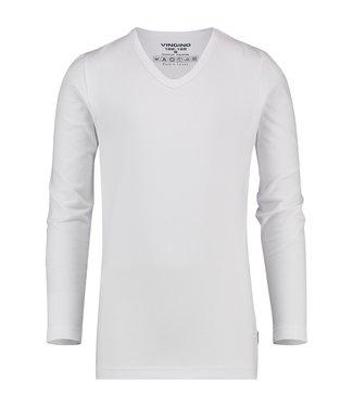 Vingino T-shirt V-hals  wit LM