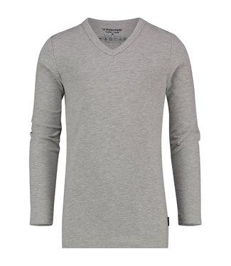 Vingino T-shirt V-neck grey LS