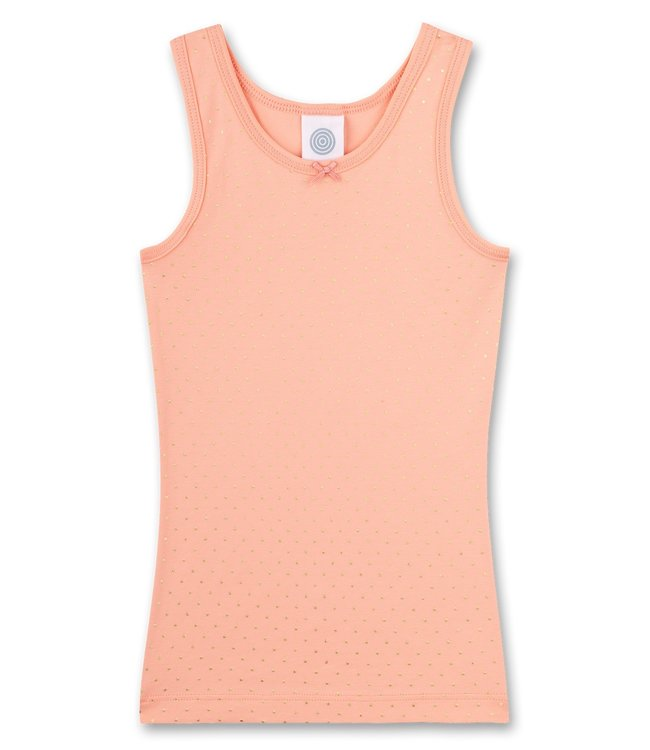 Sanetta Camisole Coral Dots Gold