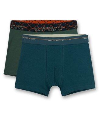 Sanetta Boxershort Navy Green 2-pack