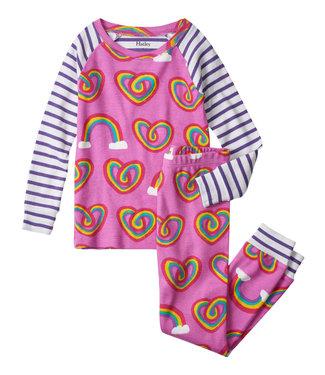 Hatley Pyjama Twisty Rainbow Hearts