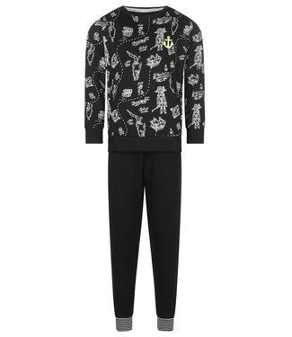 Charlie Choe Lounge pyjama Black Pirate