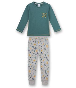 Sanetta Pyjama Airplane Green