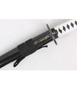 Weiß Samurai katana schwert mit kogatana messer
