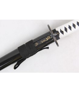 White Samurai katana sword with kogatana knife