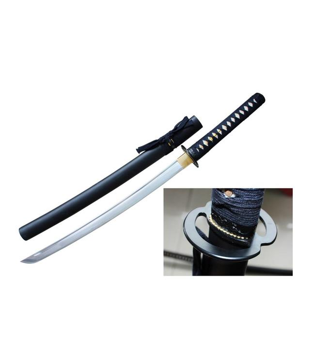 Wakizashi samurai zwaard Musashi tsuba