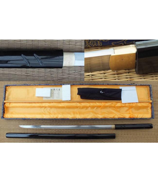 Scherp samurai zwaard zwart