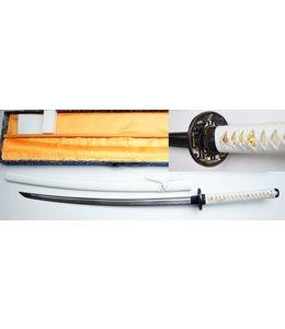 Naginata wit samurai zwaard