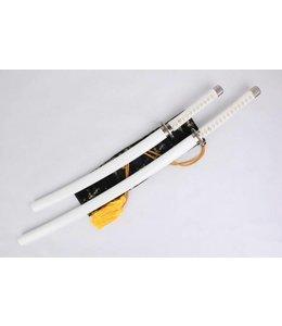Witte Samurai zwaarden Set