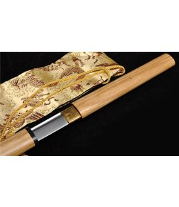 Samurai Shirasaya zwaard Damast hout