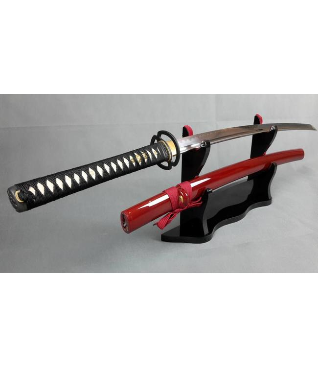 T10 steel sword clay tempered temple red