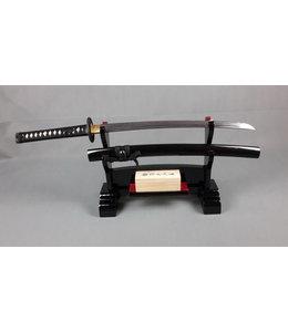 Wakizashi Damast staal samurai zwaard