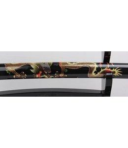 Samurai zwaard met draak beschildering op saya