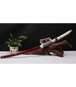 katana zwaard rvs donkerrood wit