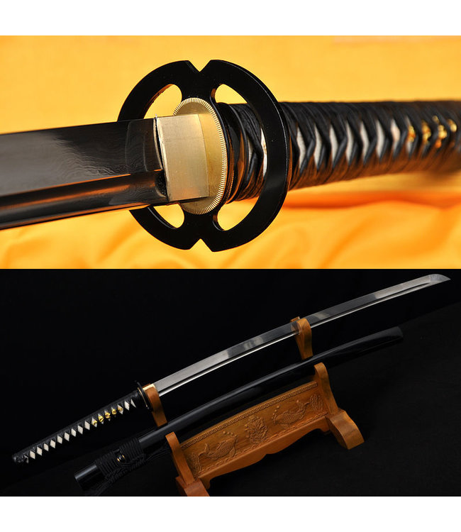 Mus Damast samurai katana zwaard