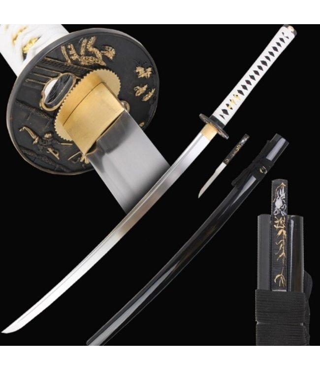 Samurai Shirasaya zwaard wit