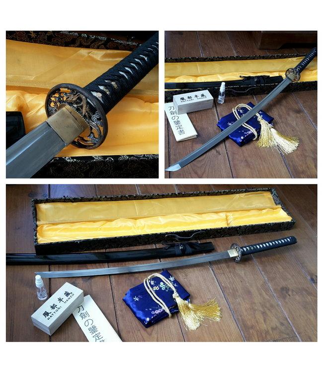 Brown Damascus Steel samurai sword - Copy