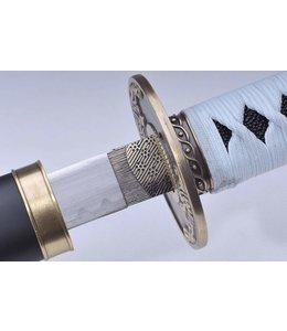 RVS zwaard met witte ito