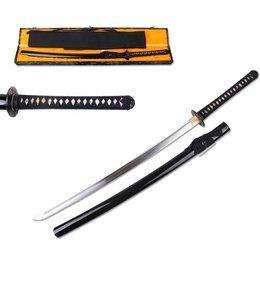 Scherp japans samurai zwaard in kist