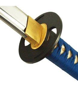 Blauw double Twist samurai katana zwaard