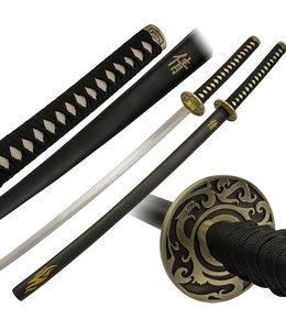 Draken tsuba en japans teken katana zwaard rvs