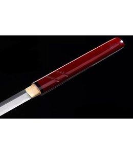 Scherp samurai zatoichi zwaard rood