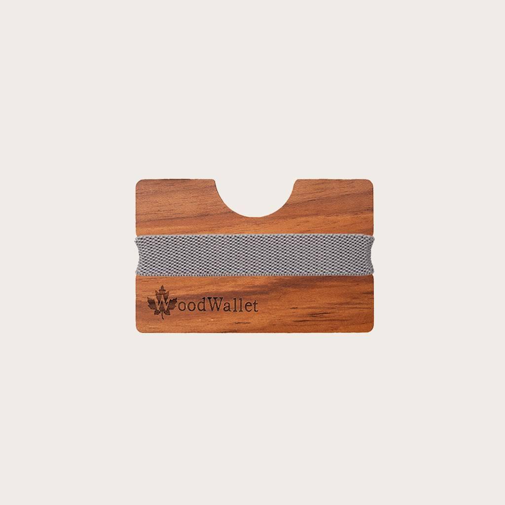 En kompakt kortholder med plads til 8 kort. WoodWallet er fremstillet af træ i højeste kvalitet, der klæder en bæredygtig livsstil. WoodWallet kan indgraveres med en kærlig hilsen eller dine egne initialer. Alle WoodWallets kommer med højkvalitets urrem i