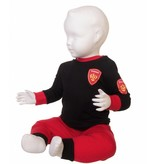 Fun2Wear Fun2Wear brandweer pyjama  rood/zwart
