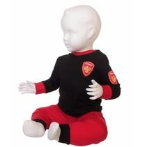 Brandweer pyjama rood/zwart