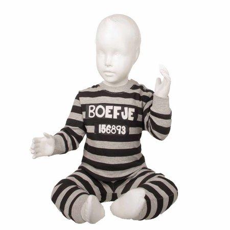 Fun2Wear Fun2Wear Boefje Pyjama Grijs/Zwart gestreept