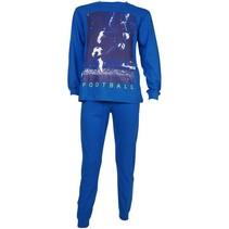 Voetbal pyjama blauw