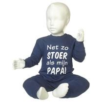 Net zo stoer als mijn Papa pyjama Navy