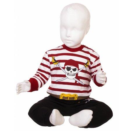 Fun2Wear Fun2wear Piraten Pyjama Wit