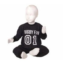 Rugby pyjama Zwart