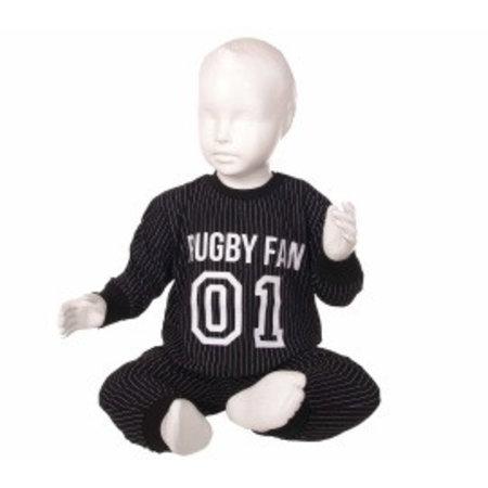 Fun2Wear Fun2Wear Rugby pyjama Zwart