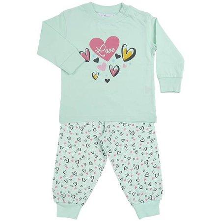 Fun2Wear Fun2Wear Heart Green Pyjama