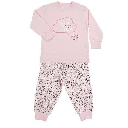 Fun2Wear Fun2Wear Let's Sleep Pyjama Blushing Rose