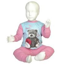 Bear Pyjama Blue