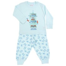 Robot Go To Sleep Pyjama Blue