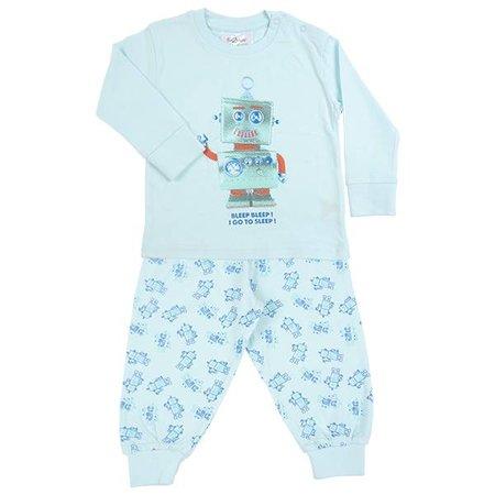 Fun2Wear Fun2Wear Robot Go To Sleep Pyjama Blue