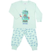 Robot Go To Sleep Pyjama Green