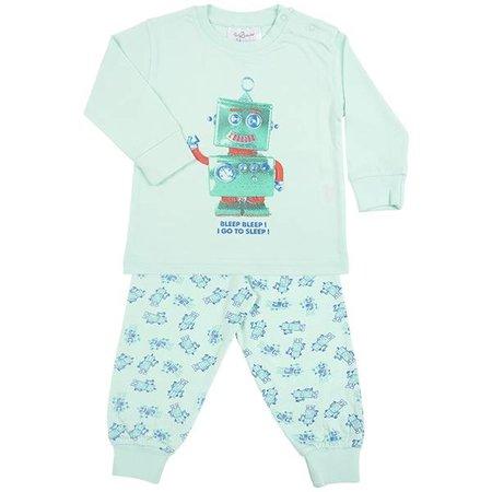 Fun2Wear Fun2Wear Robot Go To Sleep Pyjama Green