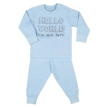 Hello World I'm new here Pyjama Blue