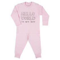 Hello World I'm new here Pyjama Pink