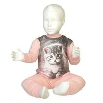 Kitten Pyjama Pink