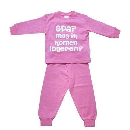 Fun2Wear Fun2Wear Opa mag ik komen logeren Pyjama Roze