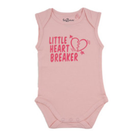 Fun2Wear Fun2Wear Romper Little Heart Breaker Roze