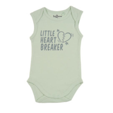 Fun2Wear Fun2Wear Romper Little Heart Breaker Green